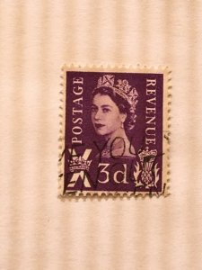 "Scotland – 1958-67 – Single ""Royal"" Stamp – SC# 1 – Used"