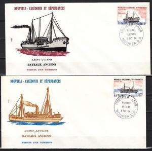 New Caledonia, Scott cat. 498-499. Cargo Ships issue. 2 First day covers.