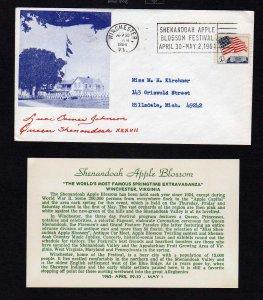 VA Winchester Virginia Shenandoah Apple Blossom Queen Luci  Baines Johnson 1964