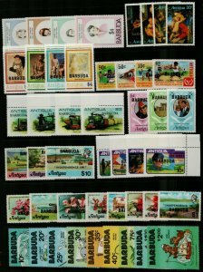 Barbuda 1981 range of issues with complete sets and sheetlets to include  Stamps