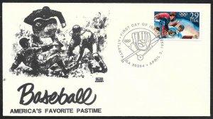 UNITED STATES FDC 29¢ Olympic Baseball 1992 Glen