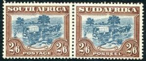 SOUTH AFRICA-1944 2/6 Blue & Brown Sg 49b MOUNTED MINT V28023