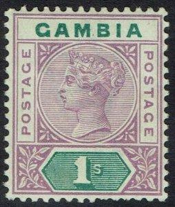 GAMBIA 1898 QV KEY TYPE 1/-