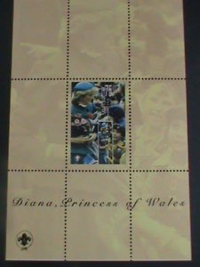 KYRGYZSTAN-DIANA-PRINCESS OF WALES- ALWAYS REMEMBER MNH S/S -VERY FINE
