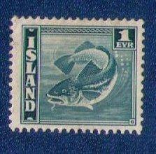 Iceland Sc #217a  MLH  Codfish VF