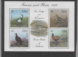 IRELAND #758a  1989  BIRDS    MINT  VF NH  O.G  M/S