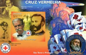 St.Thomas 2005 Red Cross/Halley's Comet/H.Dunant SS Imp. MNH