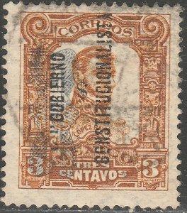 MEXICO 530, 3¢ Corbata & Gobierno $ overprints, USED. VF. (1271)