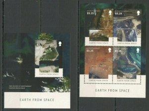 V1010 2015 MONTSERRAT EARTH FROM SPACE #1774-78 MICHEL 18 EURO BL+KB FIX