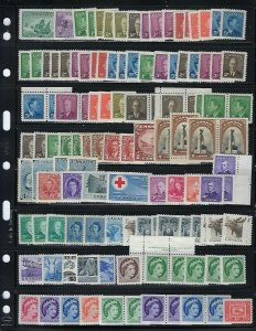 CANADA POSTAGE 1934-1997 SCOTT #210-1630- 1,200+ STAMPS 95% NH- $250 CANADIAN