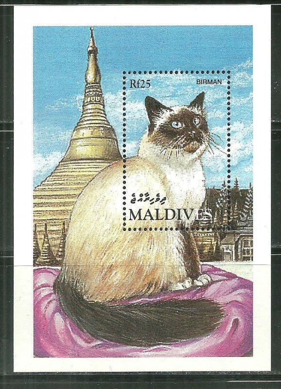 Maldives MNH S/S Cats
