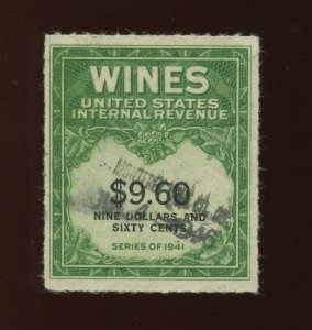 RE204 RARE Wines Revenue Used Stamp with Crowe Cert (Stock RE204 A1)