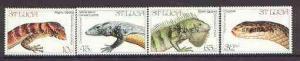 St Lucia 1984 Endangered Wildlife set of 4 opt'd SPECIMEN...