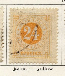 Sweden 1872 Early Issue Fine Used 24ore. NW-04592