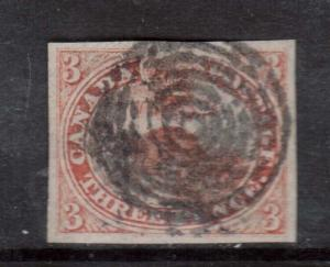 Canada #1 VF Used With Four Margins **With Certificate**