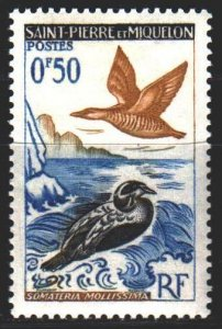 Saint Pierre and Miquelon. 1963. 398 from the series. Birds fauna. MNH.