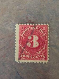 #J33, U-W/M, 3c postage due