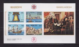 Bangladesh 114a Imperf Set MNH American Bicentennial (B)