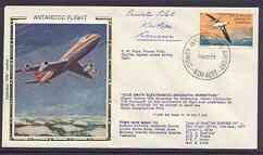 Australian Antarctic Territory 1977 Boeing 747 silk cover...