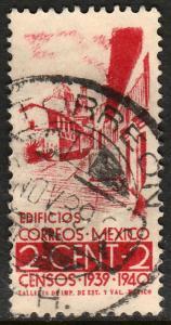 MEXICO 751, 2c Census, 1940. Used. F-VF. (993)