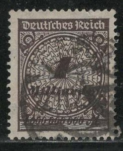 Germany Reich Scott # 294, used, variation rotary press print, exp h/s