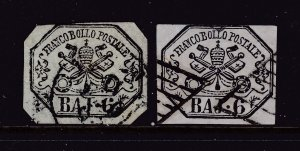 Papal States a pair of 6baj used