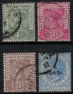 Straits Settlements #83-5,91  CV $3.45
