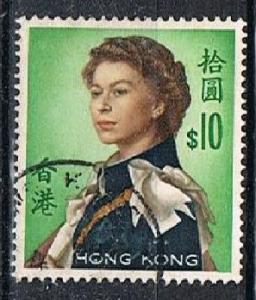 HONG KONG 151213 - 1962 QEII $10 definitive used single