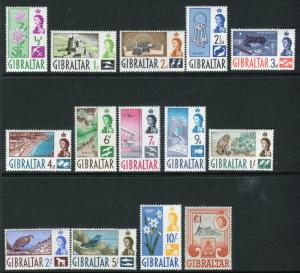GIBRALTAR-1960-2  An unmounted mint set to £1 Sg 160-173