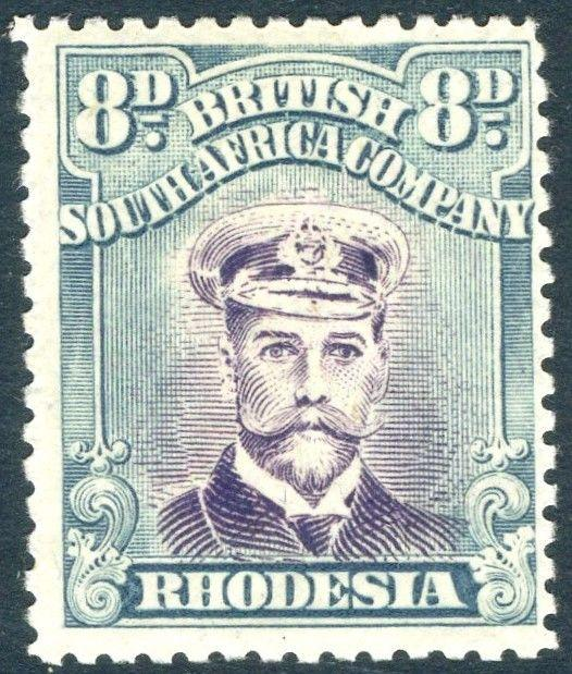 RHODESIA-1919 8d Mauve & Greenish-Blue Sg 268 LIGHTLY MOUNTED MINT V18589