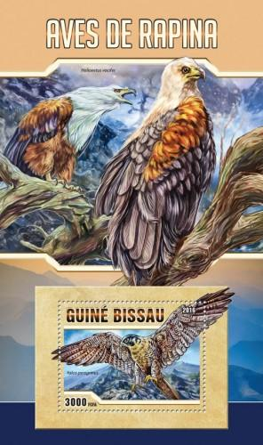 GUINEA BISSAU - 2016 - Birds of Prey - Perf S/Sheet - MNH