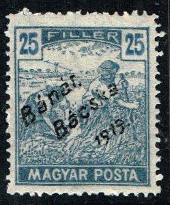 HUNGARY STAMP 1919 Hungarian Stamps Overprinted Bánát Bácska 1919 MH 25F $30