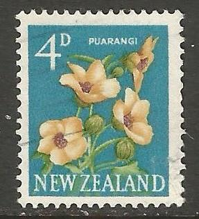NEW ZEALAND 338 VFU FLOWERS P320 B