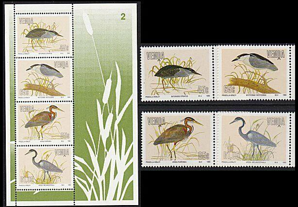 VENDA SOUTH AFRICA 1993 Birds set and mini sheet MNH.......................8789