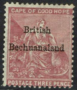 BECHUANALAND 1885 OVERPRINTED CAPE HOPE 3D