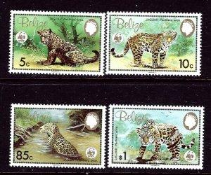 Belize 689-92 MNH 1983 Wildlife (WWF)    (ap3413)