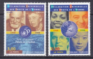 France 2688-89 MNH 1998 Universal Declaration of Human Rights 50th Anniversary