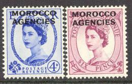 Great Britain-Morocco # 275,277 QE II   (2) Mint NH