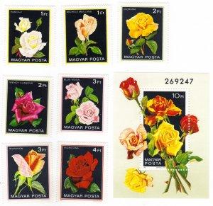 Hungary #2735-42 MNH: roses set+SS