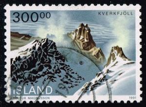 Iceland #737 Kverkfjoll Landscape; used (2.75)