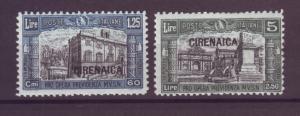 J21262 Jlstamps 1927 cyrenaica mh #b15-6 ovpt,s