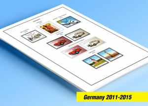 COLOR PRINTED GERMANY 2011-2015 STAMP ALBUM PAGES (43 illustrated pages)