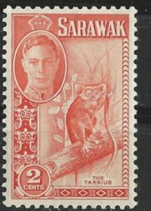 Sarawak # 181  George VI  Tarsier   (1) VLH Unused
