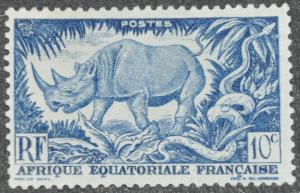 French Equatorial Africa Scott #166 - UNUSED