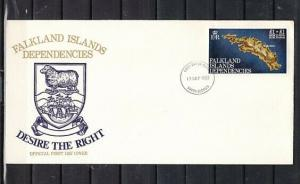 Falkland Is. Scott cat. IL B1. Rebuilding Surcharge issue. First day cover.