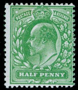 SG268 SPEC M3(2), ½d dull green, NH MINT.