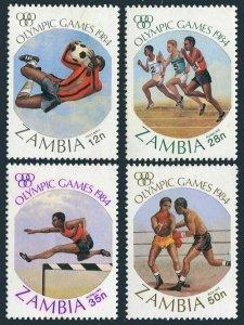 Zambia 304-07,MNH.Mi 314-317. Olympics Los Angeles-1984:Soccer,Hurdles,Boxing.