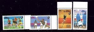 Gambia 697-700 MNH 1987 Olympics