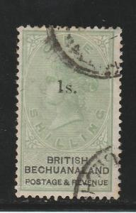 BRITISH BECHUANALAND 1888 QV 1S ON 1/-