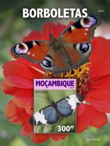 MOZAMBIQUE - 2019 - Butterflies - Perf Souv Sheet - MNH